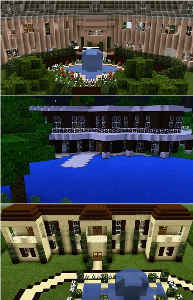 Minecraft Mansions Poster