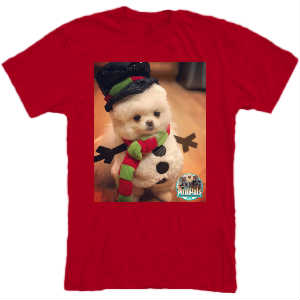 Mouse Snowman T red