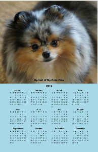 Sprout of My Pom Pals poster Calendar