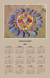 """Heart in the Sand"" Calendar Poster"