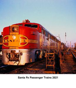2021 Santa Fe Passenger Train CD Case Calendar