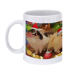 Pomeranian Christmas Cheer Mug