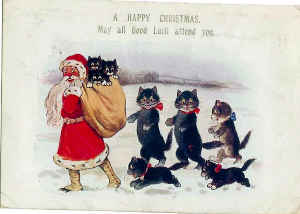 Vintage Cat Christmas Card 4