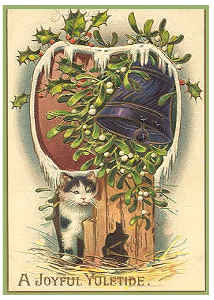 Vintage Cat Christmas Card 7