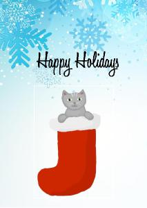 Kitten Holiday Greeting Card