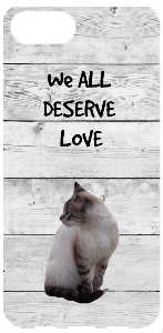 WE ALL DESERVE Love iPhone case