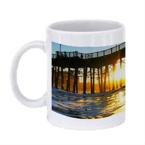 Oceanside Pier Sunrise Coffee Mug