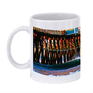 Morning Coffee Pier Mug Oceanside, CA