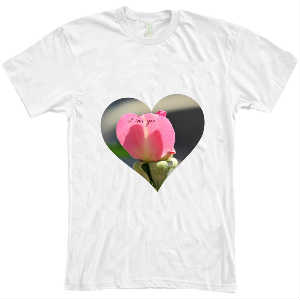 I Love You Petal White T Shirt 2