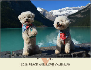 2018 Peace and Love Calendar