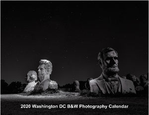2020 Washington DC Black and White Calendar