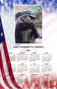 Louis for Purrsident Poster Calendar