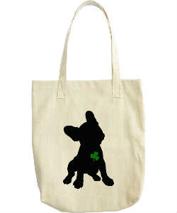 Lucky Frenchie Canvas Tote
