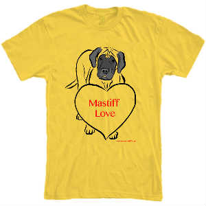 Mastiff Love T-shirt