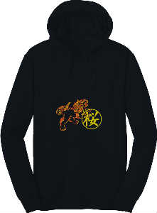 Lion Dog Hoodie in black