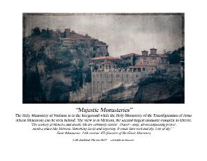 Calendar with Meteora Greece images