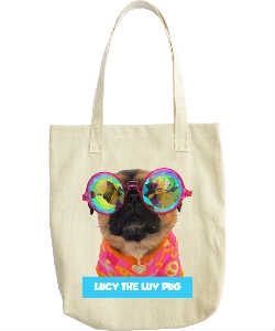LUCY THE LUV PUG TOTE