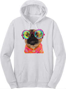 LUCY THE LUV PUG HOODIE