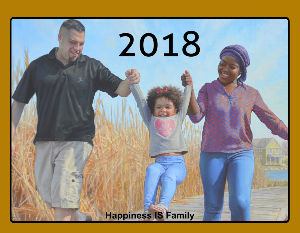 Happiness IS Family Calendar 2018