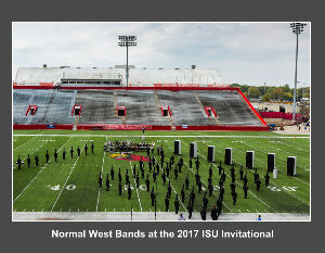 Normal West Bands at the 2017 ISU Invitational