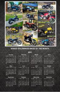 NAKED GOLDWINGS 2021 WALL POSTER