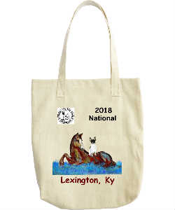NTFTA 2018 Canvas Tote  Chestnut lettering