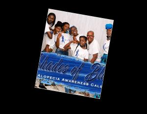 Shades of Blue Alopecia Awareness Calendar