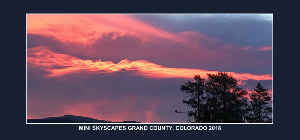 MINI SKYSCAPES GRAND COUNTY COLORADO 2018 CALENDAR