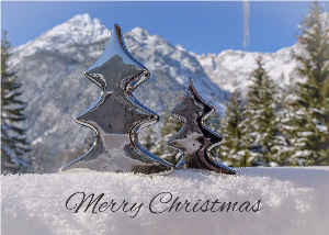 Christmas greetings from The Alps