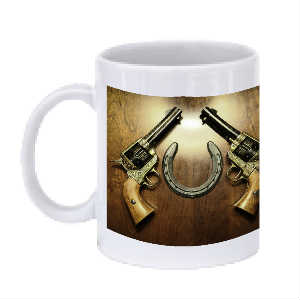 Western Six Shooter Mug