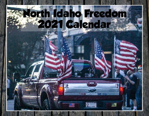 North Idaho Freedom Calendar Wood Background