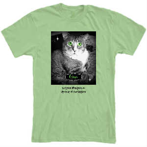 Gus--Uprising of the Kitties t shirt GREEN