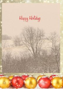 Rural scene Holiday Card