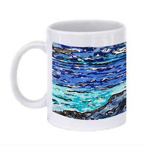 Alone by the Sea Mug (Night)