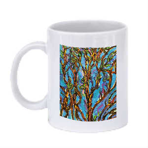 Figures in Trees Mug (Blue 2)