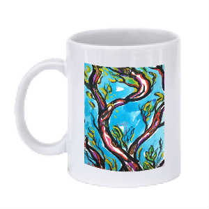 Figures in Trees Mug (Blue 1)