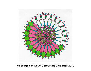 Messages of Love Colouring Calendar 2018