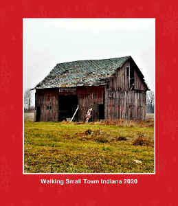 Mini 2020 Walking Small Town Indiana Calendar