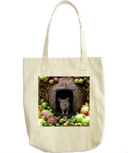 George the mouse tote bag