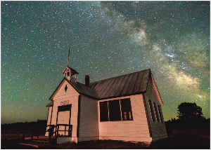 Photo Card - Milky Way Over Historic Schoolhouse