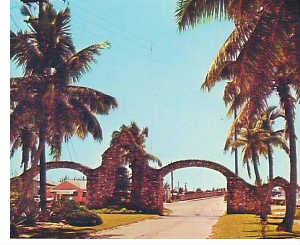 1950s Arches w/ Trees and Sky