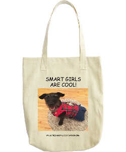 HAZEL GRACE SMART GIRL TOTE BAG