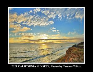 2021 12-Month California Sunsets Wall Calendar
