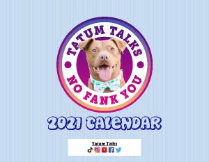 Tatum Talks 2021 Calendar