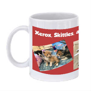 SPF Xerox, Skittles, and Cuties Coffee Mug
