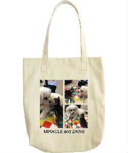 Miracle and Zaine Tote Bag