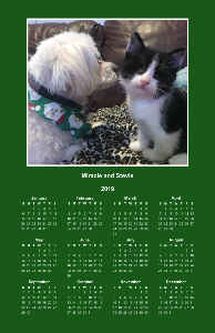 SPFs Stevie and Miracle Poster Calendar 2