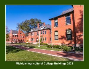 Michigan Agricultural College Buildings Calendar