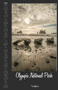 Olympic National Park Calendar Poster