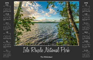 Isle Royale National Park Calendar Poster